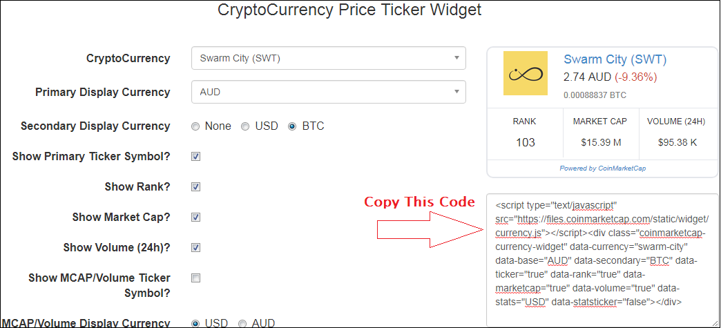 cryptocurrency coin price api